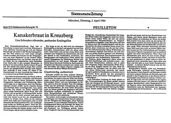 Kanakerbraut - Kritik Süddeutsche Zeitung