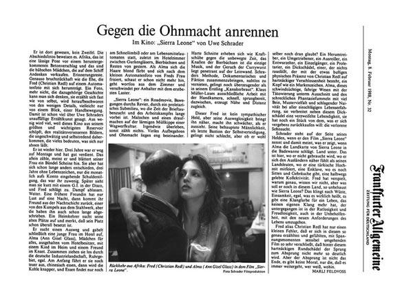 Sierra Leone - Zeitung - FrankfurterFrankfurter Rundschau